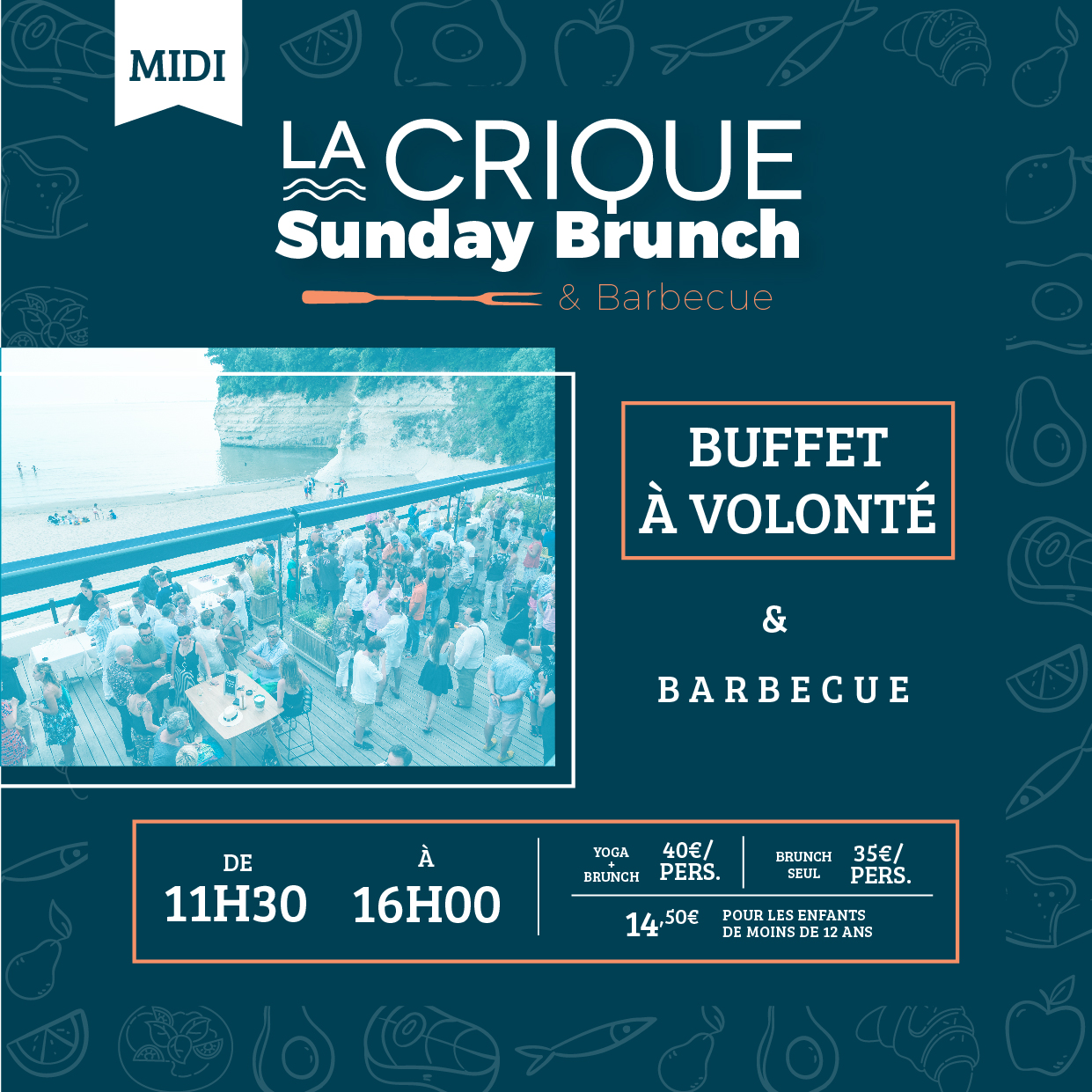 Sunday Brunch La Crique